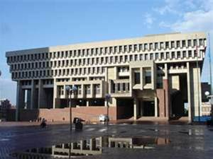 My mistake. That's actually Boston's City Hall, which was constructed in 1968. Still, it kind of has an essence of everything you'd see in an old Soviet building like utilitarianism and austerity. Not to mention, not being much to look at.