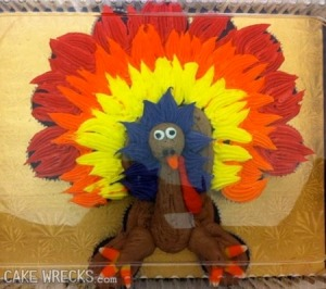 Of course, this turkey seems to have a very colorful personality and possibly too much of the brown acid at Woodstock.