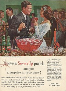 "Now I'm sure the guy is certainly too old for the girl in this. And I'm not sure if she's a teenager or not. Still, hope that the punch isn't alcoholic because I don't have a good feeling about this. I mean I could hear, ""Baby It's Cold Outside,"" looking at this ad."