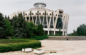 I know you wouldn't believe this but it's actually an Orthodox church in Moldova. Still, when it comes to ugliness, I knew that the Soviets wouldn't let me down.