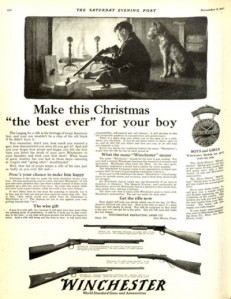 Seriously, real firearms make terrible Christmas gifts for children. I'm not sure  if puppies are any better. Still, better to give your son a Rough Ridge BB Bun than anything that could actually kill people. Worst thing he could do with a BB Gun is shoot his eye out.