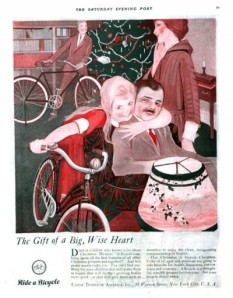 "This girl is probably thinking: ""The sooner Dalton starts riding this bicycle, the sooner I get his money. Nah-ha, ha, ha!"" Yes, I don't think this girl is up to any good and almost seems like she wants to strangle the guy in the chair."