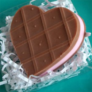 Of course, your girlfriend will get mad at you when she realizes that it's soap and not chocolate. This is especially true if that girlfriend is me.