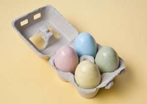 It's clever that these come in a little egg carton. However, I wish they had one of them in purple. Still, at least they won't become egg salad once the Easter season is gone.