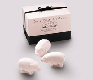However, despite how nice these pig soaps may smell, they won't be able to make you smell better if you work on a pig farm. Believe me, I watched Waking Ned Devine on that one.