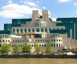 It's the SIS building in London also known as the MI6 building from the James Bond movies. I know it's what you'd get if you design a military industrial complex like a 1980s wedding cake. Still, you get to see it blown up a lot in James Bond movies like Skyfall, for instance.