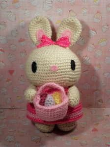 Of course, this little bunny was certainly inspired by Hello! Kitty. Yet, at least this one isn't as creepy as the costumed Easter Bunnies.