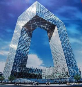 "This Beijing's CCTV building which is perhaps one of the few big TV stations in now not-so-Communist China. Other than being known as, ""big shorts"" it's also said to have high maintenance costs as well as caught fire in 2009. Thus, it's safety is a concern as well."