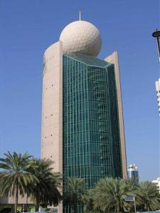 This is Etisalat 1 in Dubai, UAE and serves as headquarters for a telecommunications company. Now aside from being a tee to a giant golf ball, I also liken this to a fancy type of ball deodorant.