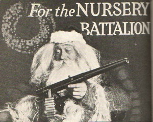 Yeah, I'm sure every young kid wants their very own toy machine gun for Christmas. Did Santa try to make sure that their parents weren't part of some pacifist religion first? Still, I hope this ad wasn't out during a time of war.