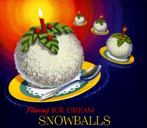 I wonder how these ice cream balls manage to retain their shape while the candle is still in them. I mean I'd expect the ice cream to melt near a source of heat, would I? Also, fire is dangerous, especially near children.