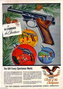 Yeah, I'm sure a gun would make a great Christmas gift. What the fuck am I saying? Of course, it doesn't! For God's sake, as Christmas gifts, guns are worse than puppies! Jesus Christ, why?