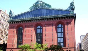 Now this is Chicago's Harold Washington Library. Architecturally speaking, the roof seems to be the combination of The Great Gatsby meets Phantom of the Opera.