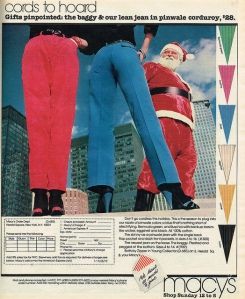 I don't know about you, but is Santa checking these women out for some reason? Also, I don't think he's looking at their legs. What a perv.