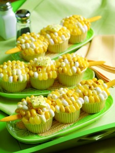 Of course, real corn on the cob is out of season being November and all. Still, those corn kernels are jelly beans.