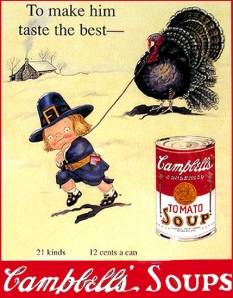 Of course, Campbell's soup is great for flavoring the turkey, if you crave for that great salty taste of its chicken broth. As they sat at Campbell's,