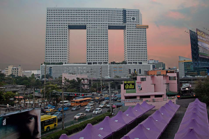 This is the Elephant Building from Bangkok, Thailand. Let's just say it was built to resemble an elephant, but made it to practically every list of ugly buildings ever assembled. It would be tough to leave this one out.