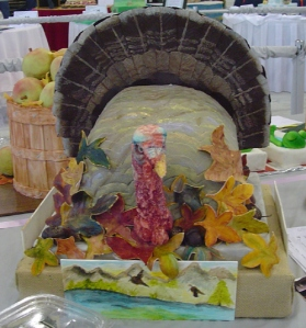 Seems like this turkey doesn't seem too happy here, to be dessert. Still, a bit too realistic if you know what I mean.