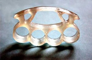 Then again, I don't think soap knuckles would stand a chance against any kind of metal knuckle imaginable. Yet, a rather good imitation of brass knuckles if you know what I mean. Not to mention, perfectly safe for kids.