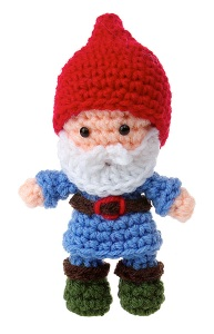 I don't know about you but this is way cuter than any real garden gnome I've ever seen. Looks like Santa Claus in a little smurf outfit.