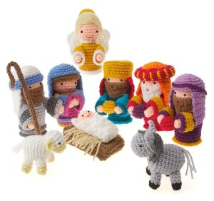 Now this is the perfect nativity scene for those who have small children running around the house. At least you don't have to worry about anything getting broken. Oh, and at least the kids could play with the figures.