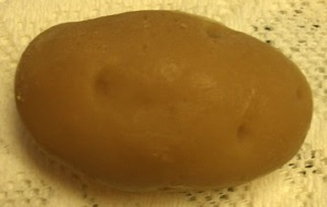 Yes, this is a potato soap. And no, you can't bake it, mash it, or cut it up. Yet, it will get you clean in the shower even though it might make others scratch their heads in confusion.
