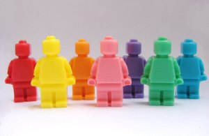 Call this one a Lego people Rainbow Coalition if you will. However, I'm sure that real Lego people didn't come in all these lovely different colors other than yellow.