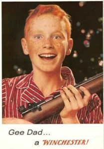 Yes, I'm sure a Winchester makes a great gift for the adolescent teenage boy who seems to be on the brink of starting a homicidal rampage for his own amusement.