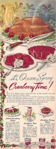 Then again, even if the Pilgrims didn't eat cranberries on the first Thanksgiving, we can be sure that the Native Americans ate them. So this ad isn't completely wrong. However, I'm sure they didn't consume them with gelatin though. Nor did they make sundaes from them.