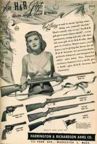 This woman seems like there's something wrong with her. I mean seeing her hold the gun, it makes me think that she can't contain any excitement to use it, especially toward her mortal enemies.