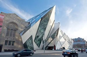 This is the Royal Ontario Museum in Toronto, Canada. It's combined architecture of the old museum with the new Crystal Building that resembles a giant iceberg. Still, at least the old part didn't look like the Titanic or there would've been unfortunate implications.
