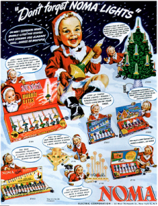 I don't know about you but that happy kid in the Santa suit seems like he's about to use one of those lights to blow up your house. And he doesn't seem to have any remorse for it.