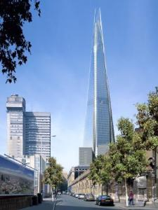 "This building is called ""Shard of Glass"" and it's said to be the tallest building in Europe. Still, we all know that this is a monument to honor J. R. R. Tolkein and his literary work in adult fantasy. Yet, the Brits just don't want to admit it."