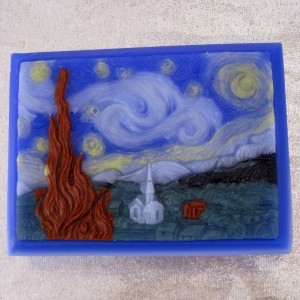 How many times has Vincent Van Gogh's Starry Night been immortalized? Still, I wouldn't wash with this soap since it's so pretty.