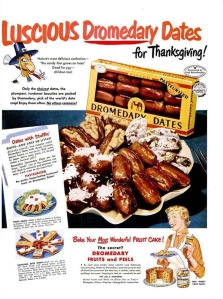 Of course, this ad would be perfectly fine besides the fact that nobody eats fruitcake. That is, unless it's covered in booze or served with it. No wonder there were so many Thanksgiving booze ads.