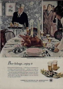Yeah, everything Thanksgiving seems to be here. I mean they got turkey, china, candles, and booze. Still, the adults are going to be buzzed when dinner's over.