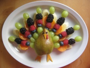 Almost reminds me of the NBC peacock and one of those edible arrangement displays. Still, I'm sure turkeys aren't that elaborate.