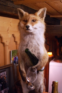 Of course, he's the kind of fox who'd eat a rabbit's liver with a fine Chianti. Yet, I'm not sure if he'd have fava beans as a side.