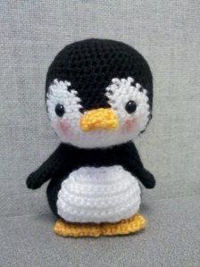 Yes, this little guy is certainly adorable with its rosy cheeks. I'm sure anyone would think it makes a nice gift for a child. I mean you just want to take this little penguin home, too. I understand.