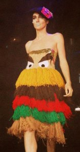 I guess this Yarn Hamburger Queen dress was one of the failed attempts for McDonalds to find a new companion for the Hamburglar. Yet, only the Hamburglar would know that this dress was good enough to eat.