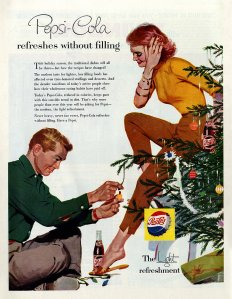 After the tree decorating is over, I'm sure things between the two are about to get really, really awkward. Hope they just get a room already. Still, this would be a better ad if it was promoting Cialis.