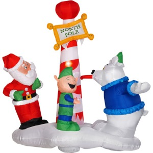 Of course, we should all know that the elf talked the polar bear into it. Guess he ain't getting any presents this year. Still, I'm sure the bear isn't going to be happy once Santa sorts things out.