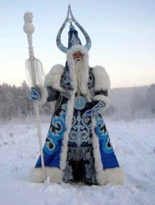 Instead of Santa Claus, Eastern Europe has a guy named Ded Moroz who shares many of the big guy in the red suit's characteristics. Of course, in his earliest tales, he's a cruel sorcerer who froze people and kidnapped children. And the parents had to give presents to him to get their kids back.