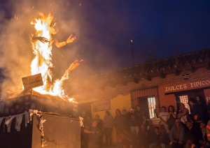 On December 7, Guatemala kicks of the Christmas season with La Quema del Diablo where people sweep their homes and gather trash in a big pile where the burn it with Satan in effigy.