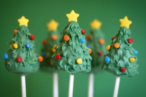 Now these may be made from cake but they certainly look a lot like little Christmas trees. But I bet they taste pretty good.