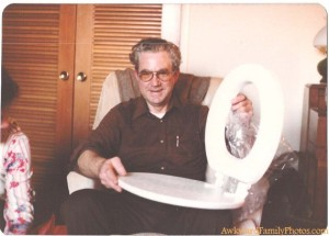 Nothing makes a grandfather feel old than getting a new toilet seat for Christmas. Still, pretty funny though.