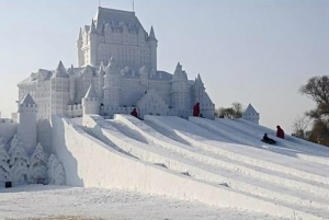 Now this castle snow sculpture just about puts Queen Elsa to shame. That is, if this castle were actually life sized and built as an actual castle. Still, very spectacular.