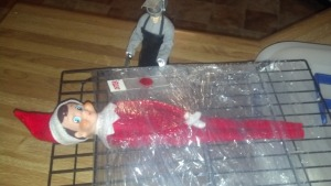 Looks like Dexter won't show any mercy to even serial killing Elves on the Shelf. This is especially true if he's known to kill three Barbie doll hookers, Dora the Explorer, and Cinderella. Yes, this is one sick elf.