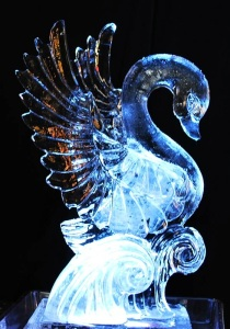 Still, whenever you see an ice sculpture in popular media how often do you think it's going to be of a swan? Then again, do you think any couple getting married would want to go with an ice sculpture of two praying manti?