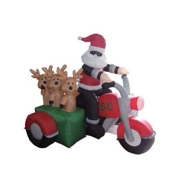 wait a minute isnt santa supposed to be using his reindeer as transportation